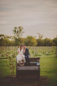 Wedding picture in the vineyard
